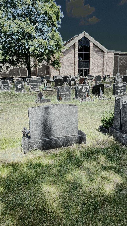 Przerażający cmentarz fotografia stock