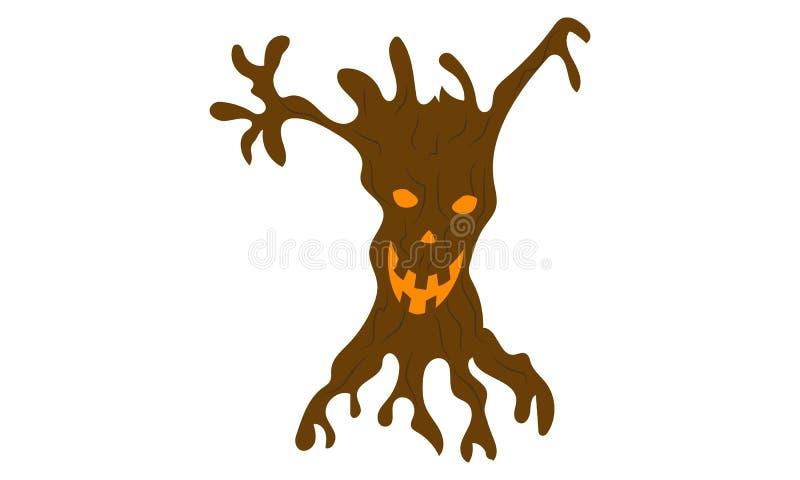 Przerażający kikus w halloween ilustracja wektor