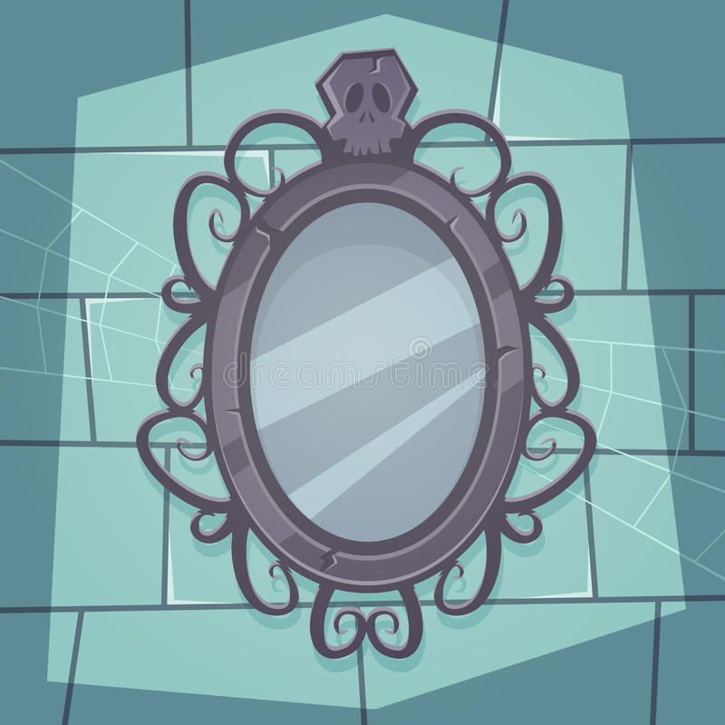 Przerażający lustro ilustracji