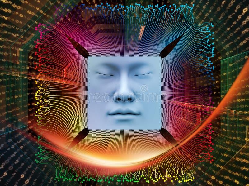 Przerobowa Super istota ludzka AI royalty ilustracja