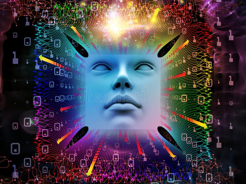 Przerobowa Super istota ludzka AI ilustracja wektor