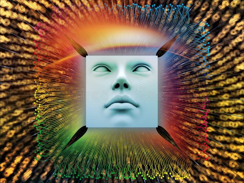 Przerobowa Super istota ludzka AI ilustracji