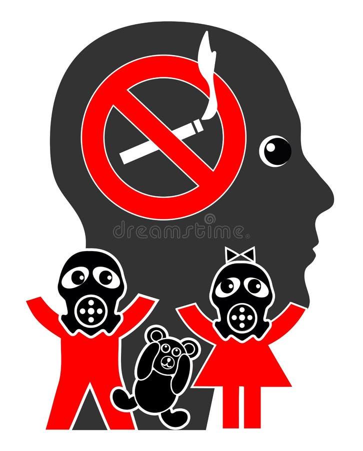 Przerwa dymi przed dzieciakami royalty ilustracja