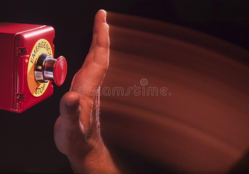 Przerwa przeciwawaryjny guzik fotografia stock
