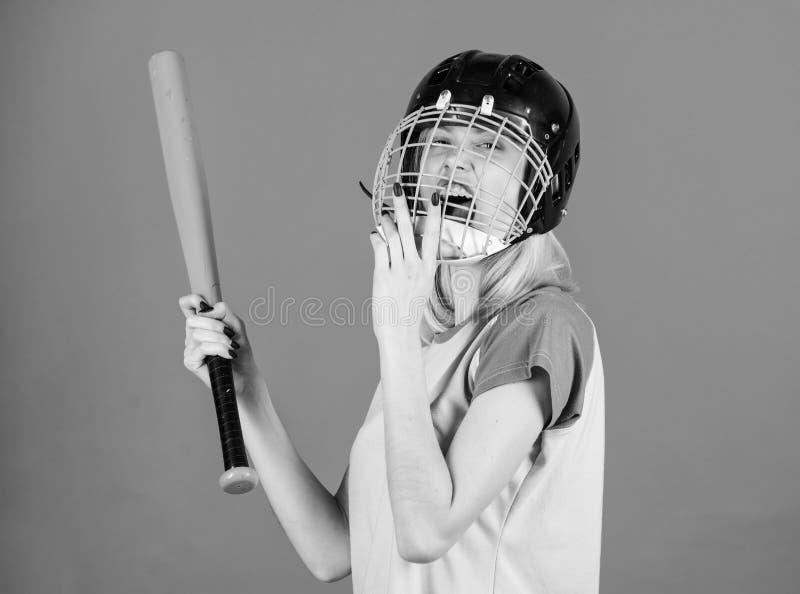 Przerwa sporta stereotyp Kobieta cieszy si? sztuka baseballa gr? E obrazy royalty free