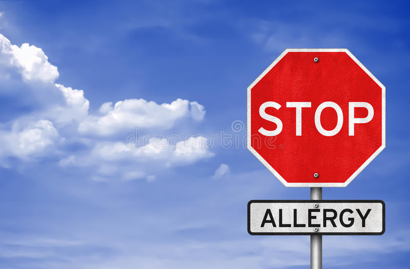 Przerwy alergia royalty ilustracja