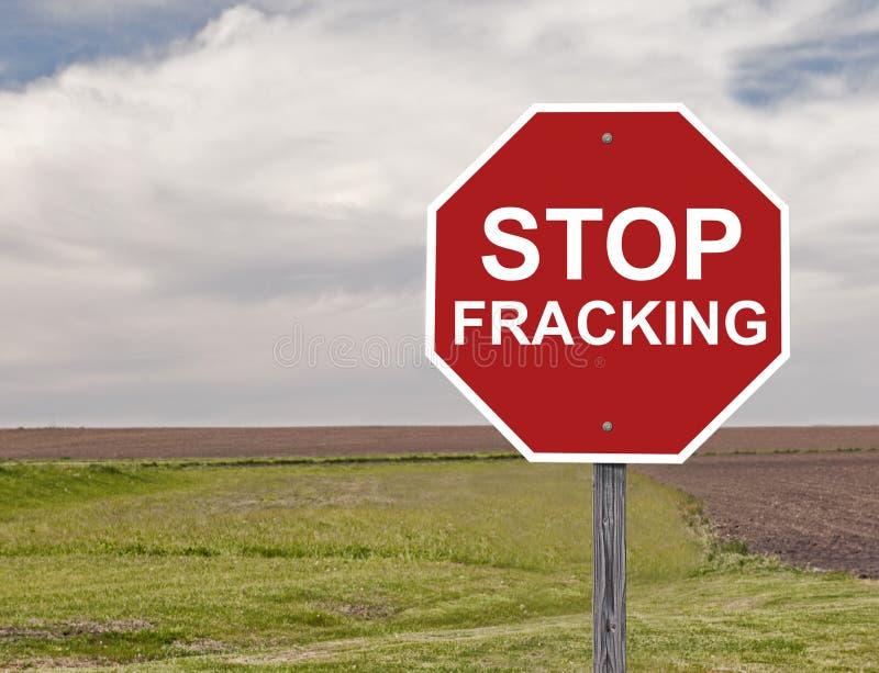 Przerwy Fracking znak fotografia royalty free