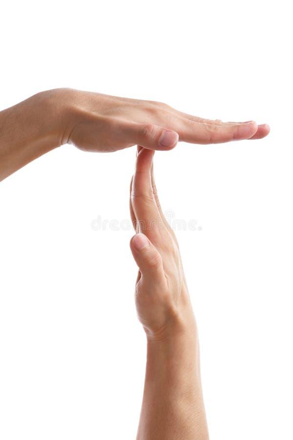 przerwy gesta ręki fermaty cichy czas zdjęcia royalty free