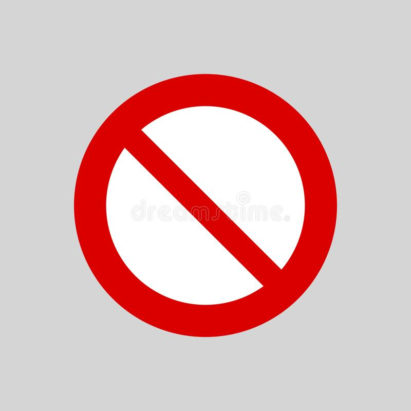 Przerwy ikona, zakazująca znak Ostrzegawcza wektorowa ilustracja royalty ilustracja