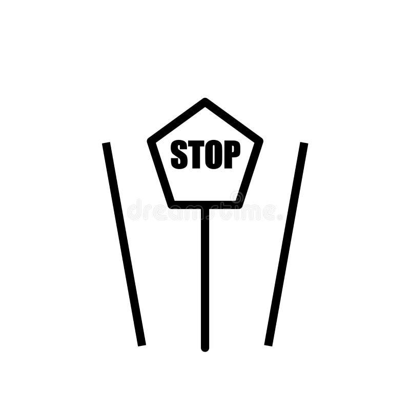 Przerwy ikony szyldowy wektor odizolowywający na białym tła, przerwa znaka znaka, znaku, elementu projekt w konturu stylu ilustracja wektor