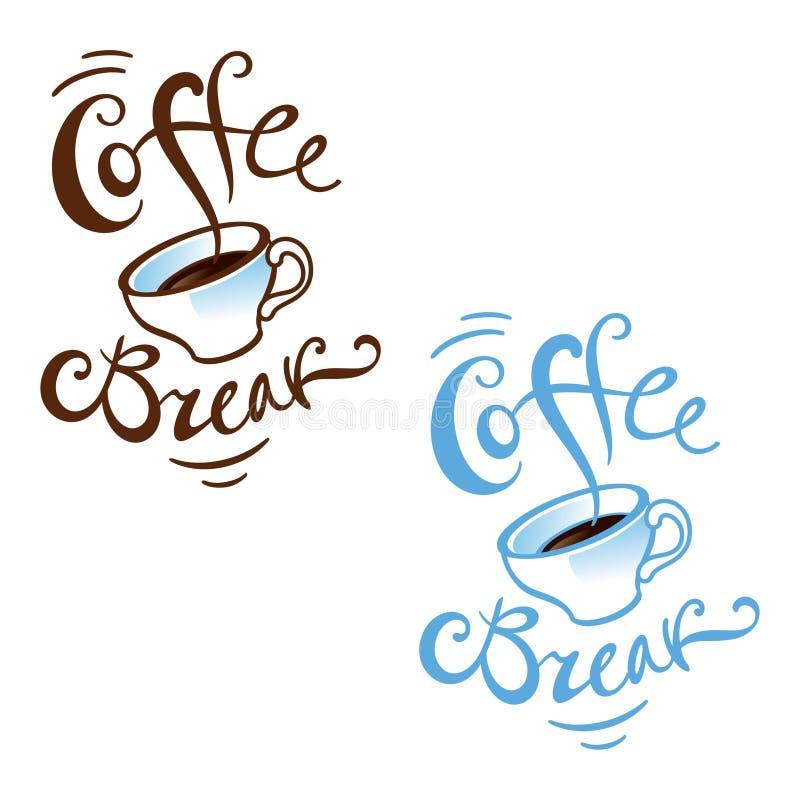 przerwy kawa royalty ilustracja