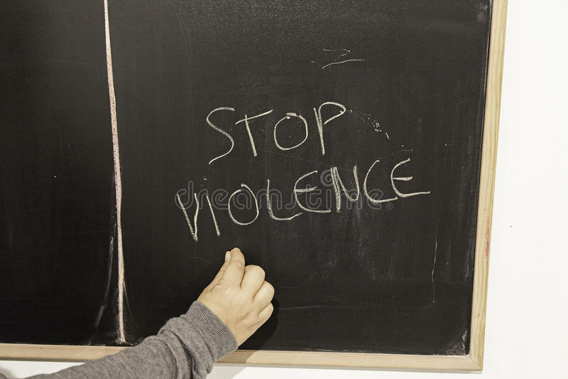Przerwy nadużycie i przemoc zdjęcie stock