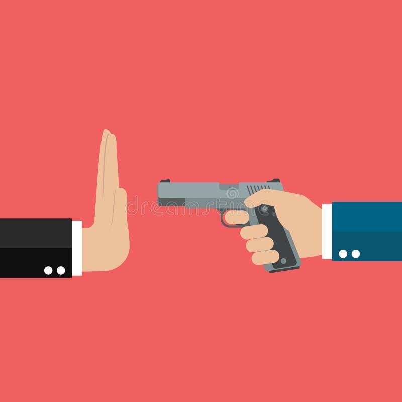 Przerwy napad z bronią w ręku royalty ilustracja