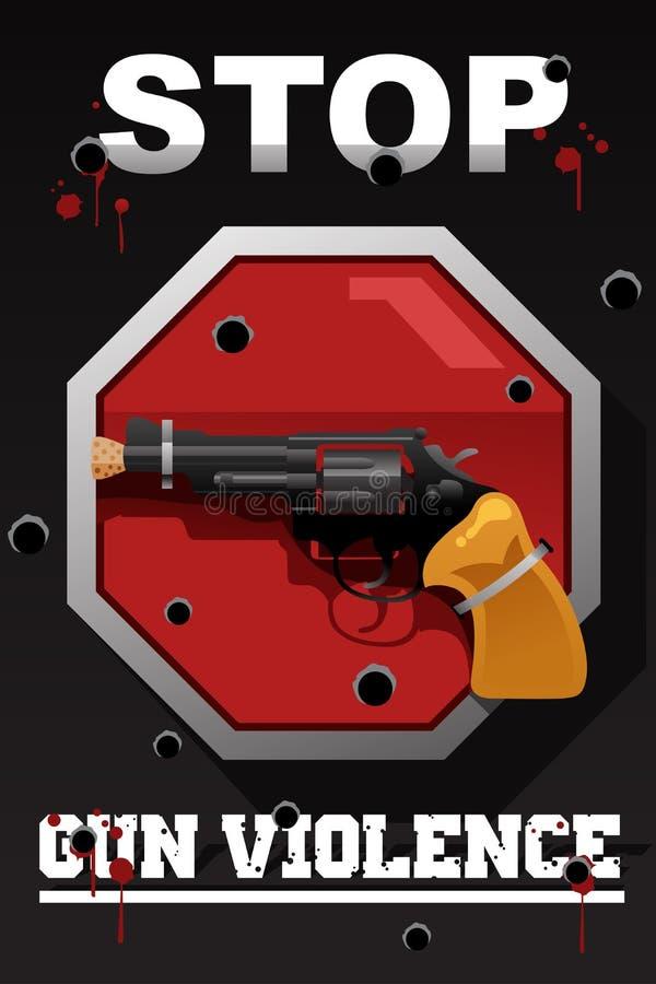 Przerwy napad z bronią w ręku plakat ilustracji