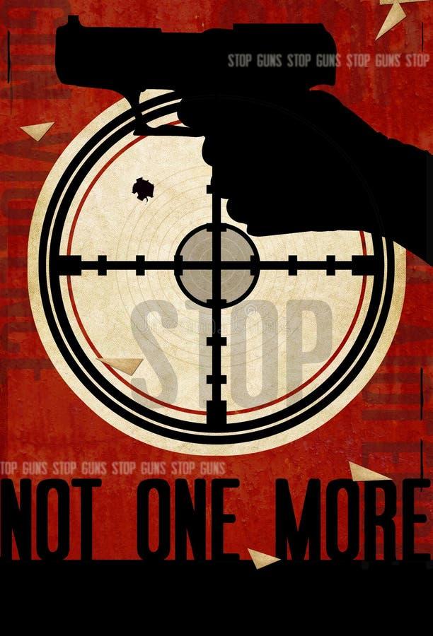 Przerwy napad z bronią w ręku plakata sztuka royalty ilustracja
