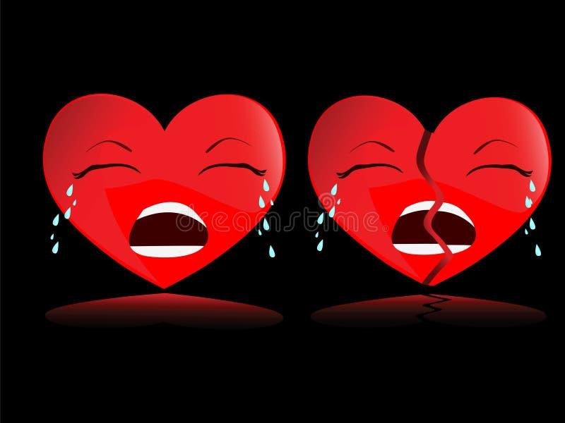 przerwy serca wektor ilustracji