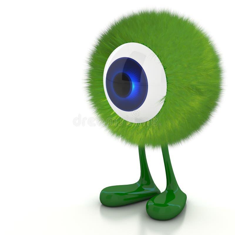 Przerzedże oko potwora ilustracja wektor