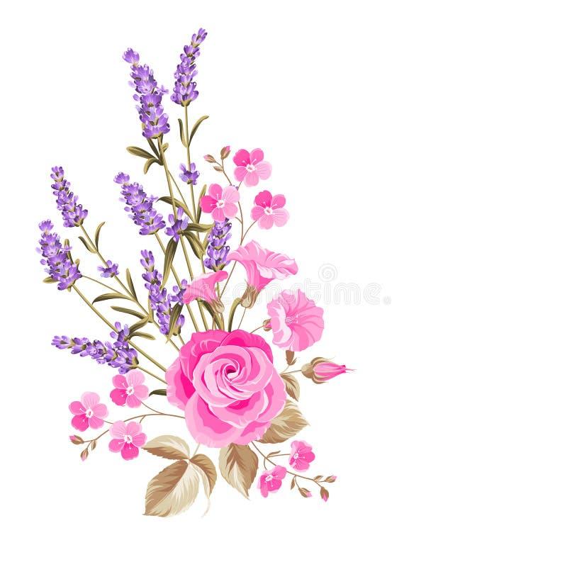 Przerzedże różanego bukiet ilustracji