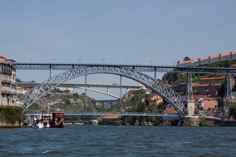 przerzuca most douro zdjęcia stock