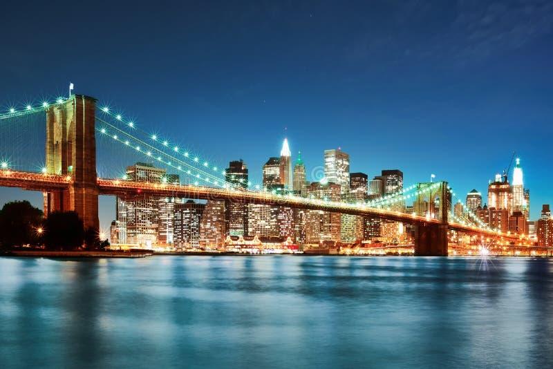 przerzuca most Manhattan obraz stock