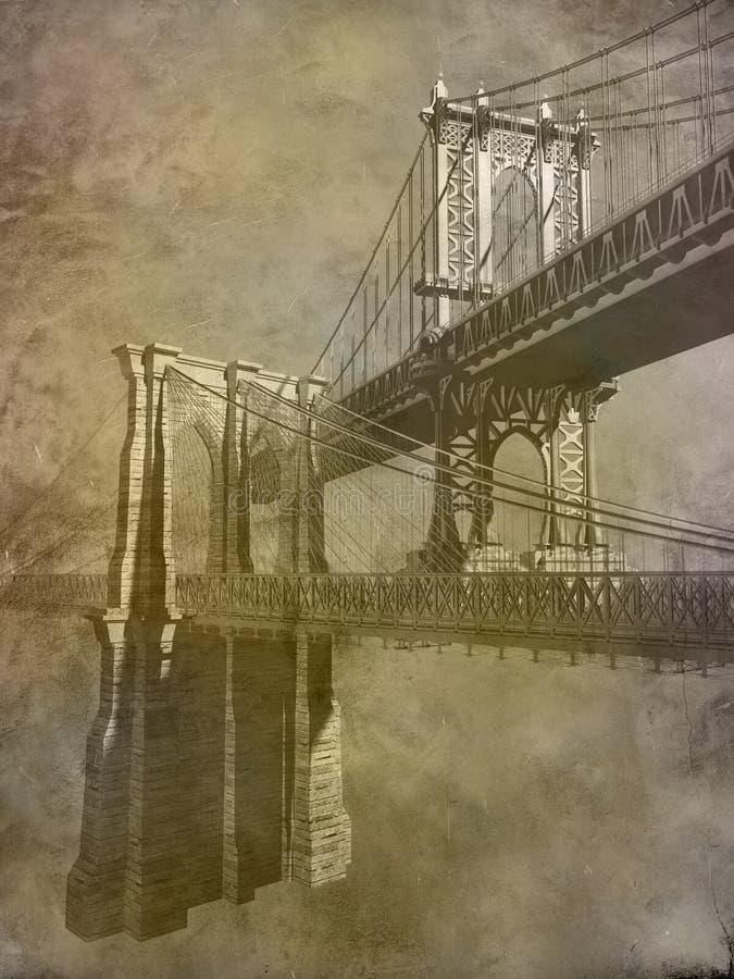 przerzuca most Manhattan ilustracja wektor