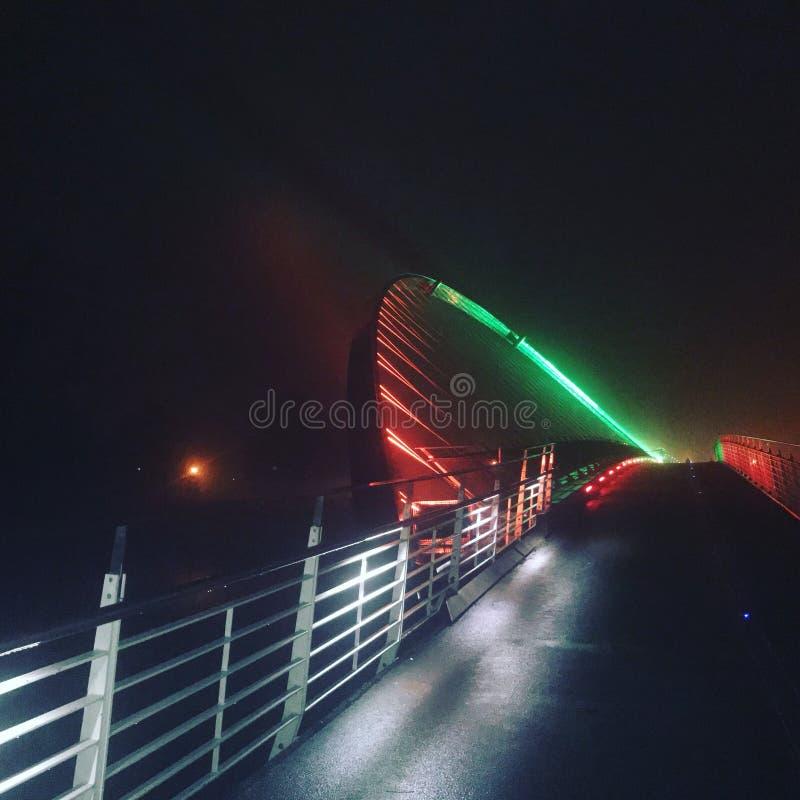 Przerzucający most światło Fantastycznego obraz royalty free