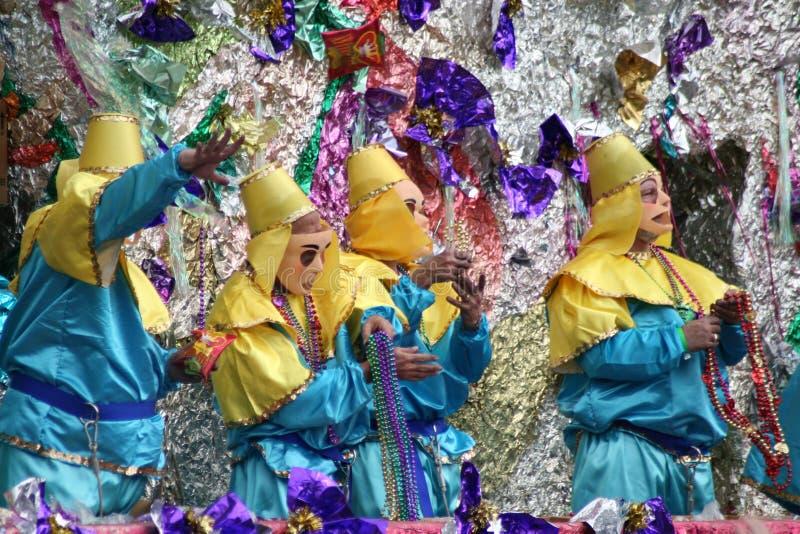 przesławni pomylenia gras mardi parady ludzie zdjęcie royalty free