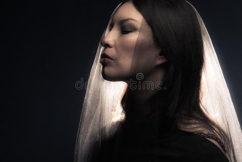 przesłony kobieta zdjęcia royalty free