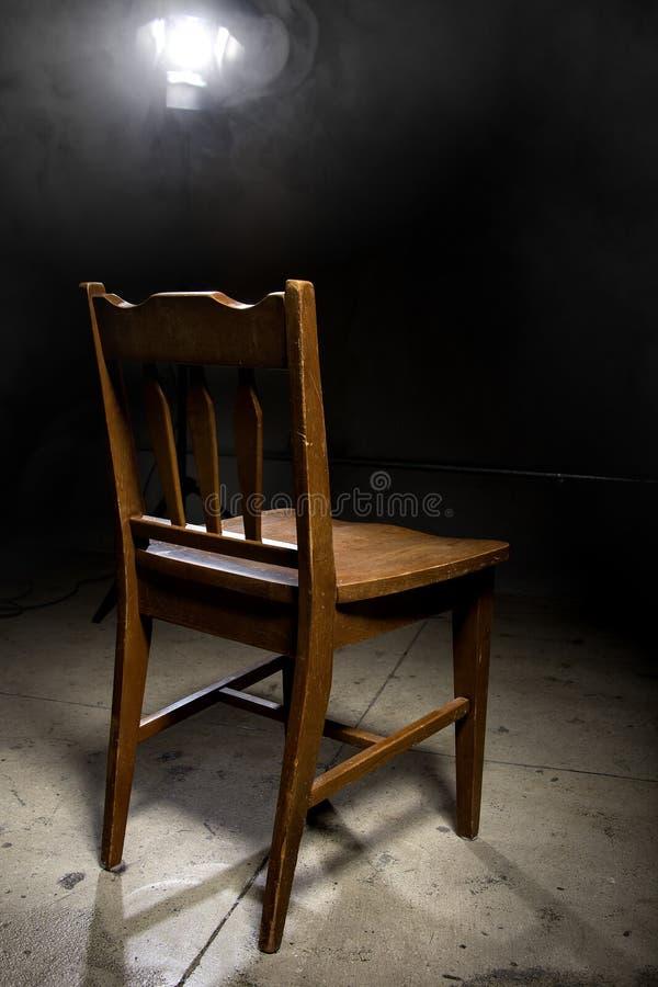 Przesłuchania krzesło zdjęcia stock