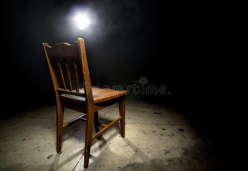Przesłuchania krzesło obrazy stock