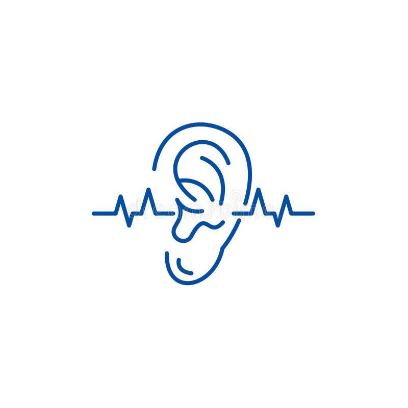 Przesłuchanie testa linii ikony pojęcie Przesłuchanie testa płaski wektorowy symbol, znak, kontur ilustracja ilustracji