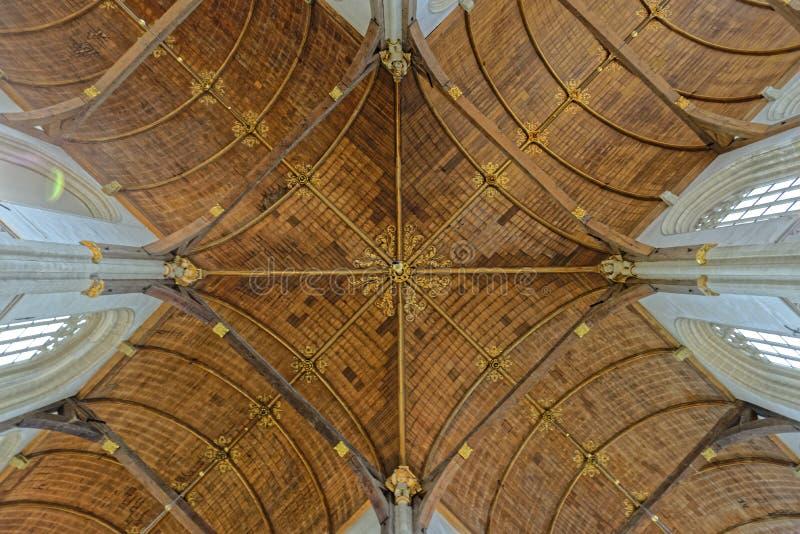 Przesklepiony sufit w kościół zdjęcia royalty free