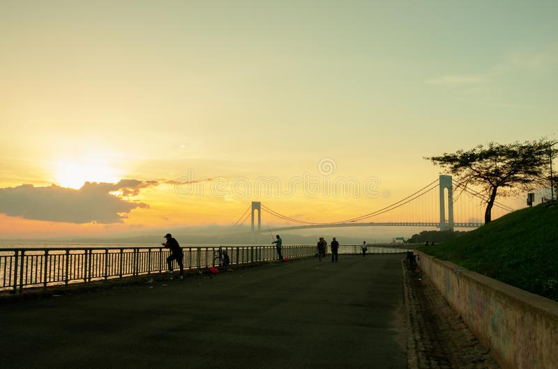 przesmyki Przerzucają most, Miasto Nowy Jork zdjęcia royalty free