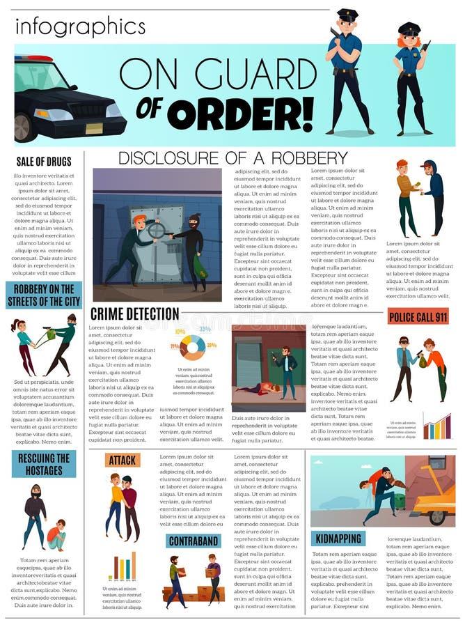 Przestępcy Infographic set ilustracja wektor