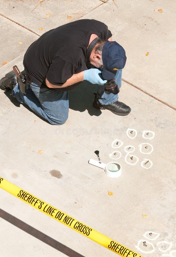 przestępstwa detektywa scena zdjęcie royalty free