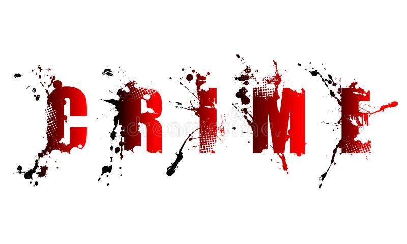 Przestępstwa słowo ilustracja wektor