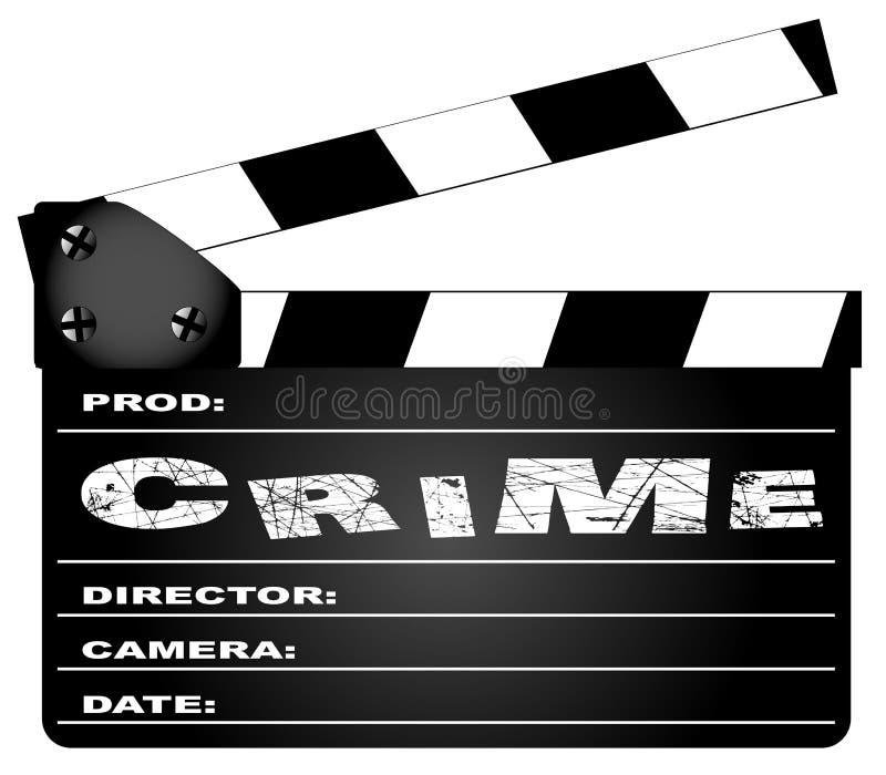 Przestępstwo film Clapperboard royalty ilustracja