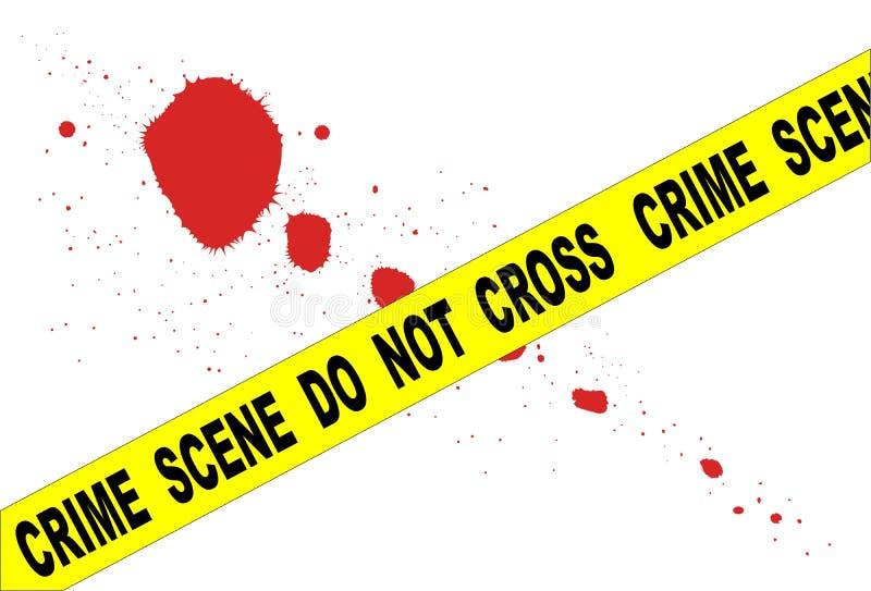 przestępstwo krzyż no nie scena ilustracji
