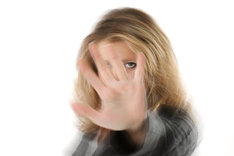 przestań gest zdjęcie stock