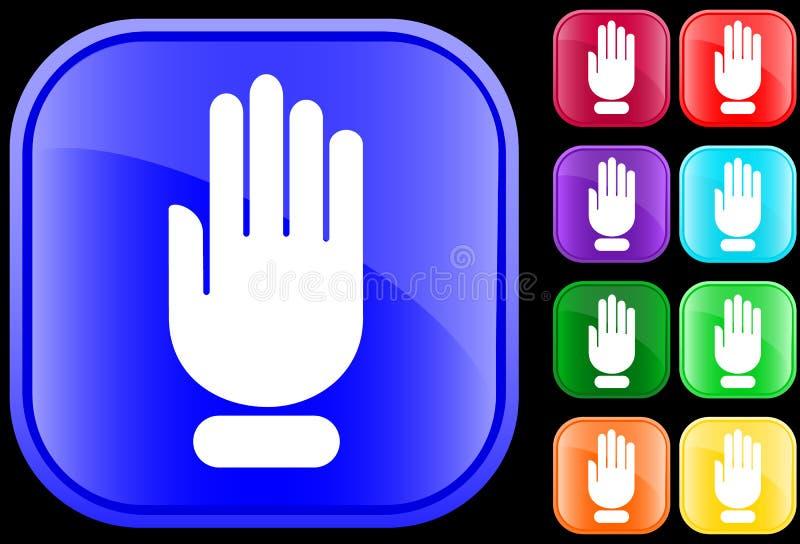 przestań ikony ręce ilustracja wektor