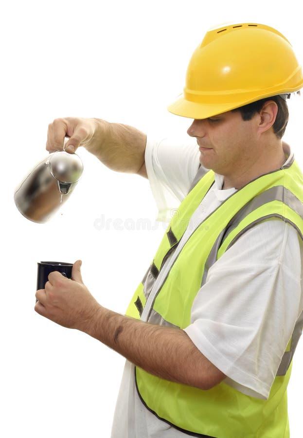 przestań kawy robotnika fotografia stock