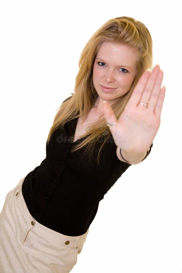 przestań ręce zdjęcie royalty free