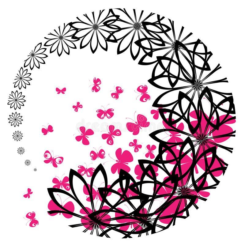 przestawni motyli kwiaty royalty ilustracja