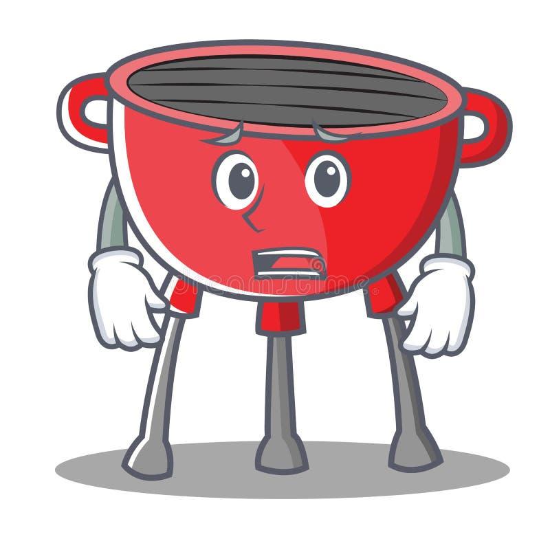 Przestraszony grilla grilla postać z kreskówki ilustracji