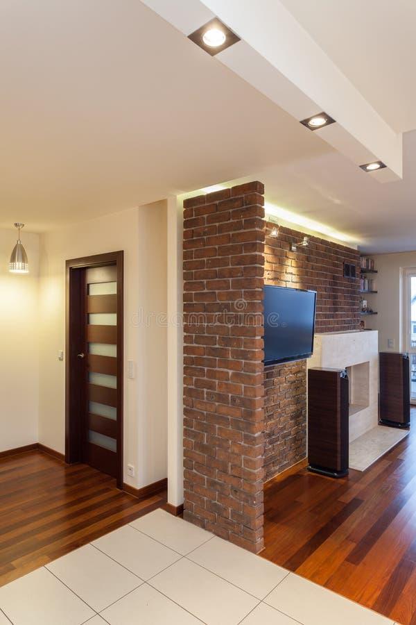Przestronny mieszkanie - wnętrze obraz royalty free