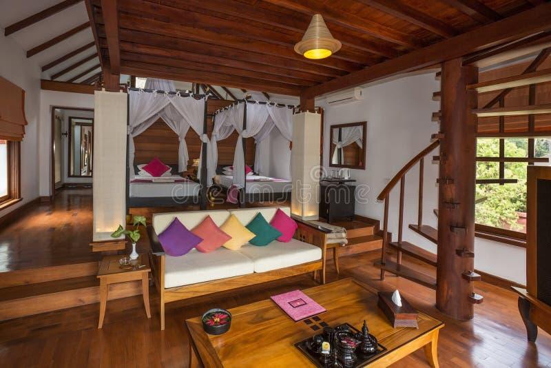 Luksusowego Hotelu pokój - Myanmar zdjęcie stock