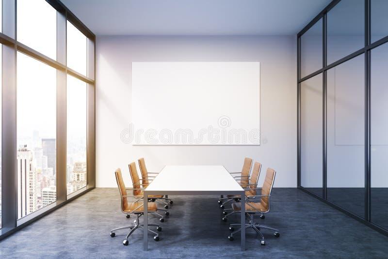Przestronny pusty pokój konferencyjny ilustracji