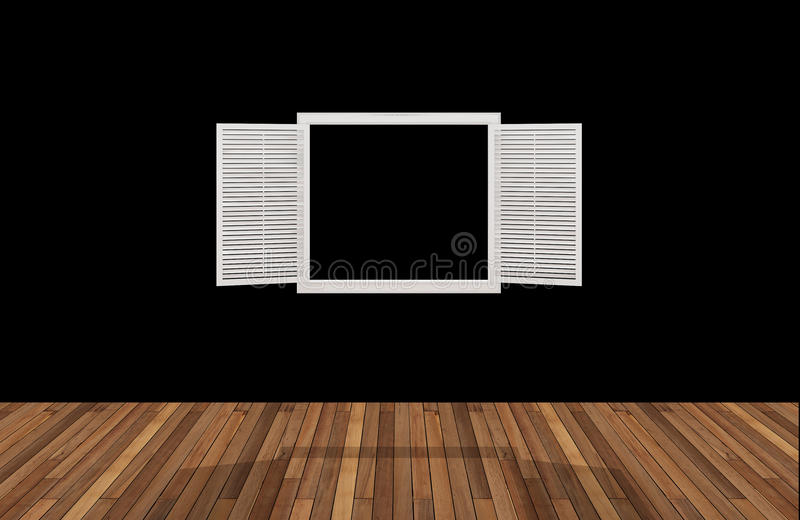 Przestrzeń za otwarcia okno, 3D ilustracja wektor