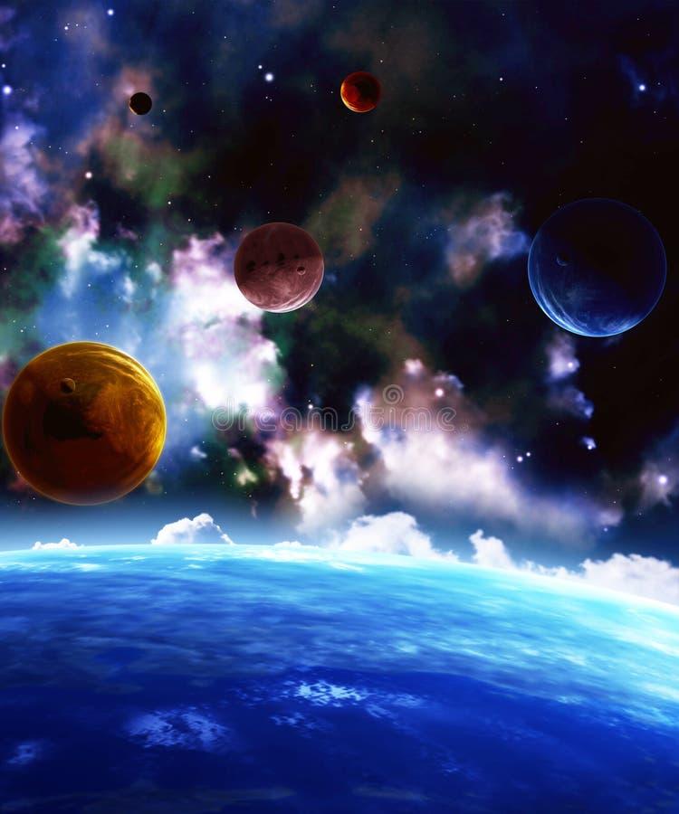 Download Przestrzeń ilustracji. Obraz złożonej z świecący, astronomia - 33048101