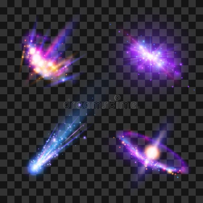 Przestrzeni gwiazdy ustawiać royalty ilustracja